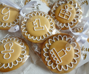 Ciasteczka - Medaliki na Chrzest / Urodziny / Baby Shower